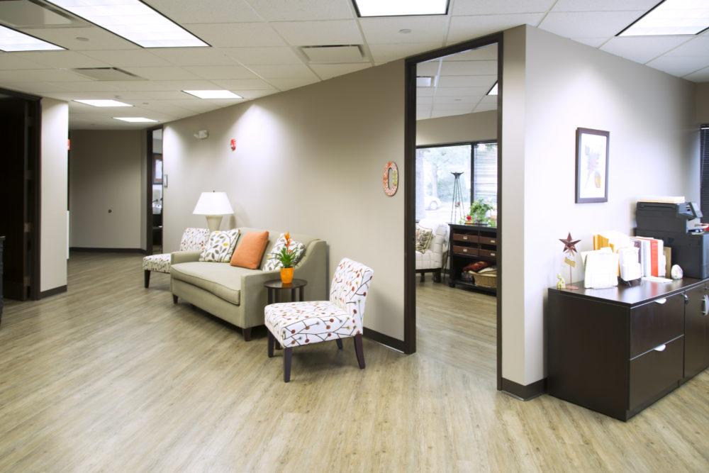 NewHope Hallway Open Door to Office