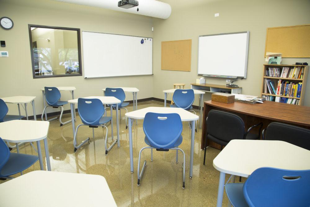 Class room corner facing
